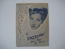 Original Movie Film Program LADY, LET'S DANCE 1944.BELITA Programa de mano,cine