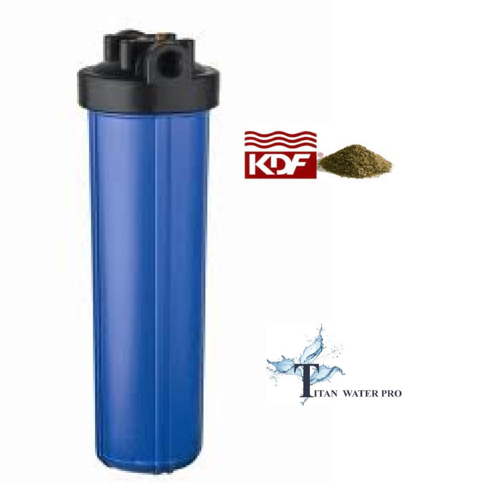 Filtre à Eau Filtre KDF85 GAC Fer H sulfure 20 x4.5  - Big bleu Housing Filtre