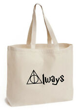 Siempre Algodón Bolso Eco Jean Escolar/Libro De Picnic Bolsa De Regalo De Harry Potter fan art