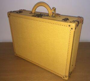 a03672650eb2 LOUIS VUITTON Yellow Purple Epi Leather ALZER 65 Attaché Case Trunk ...