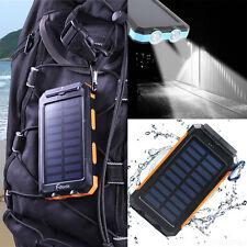 Banco de Alimentación 300000mAh Impermeable Doble USB Cargador de batería solar externo portátil