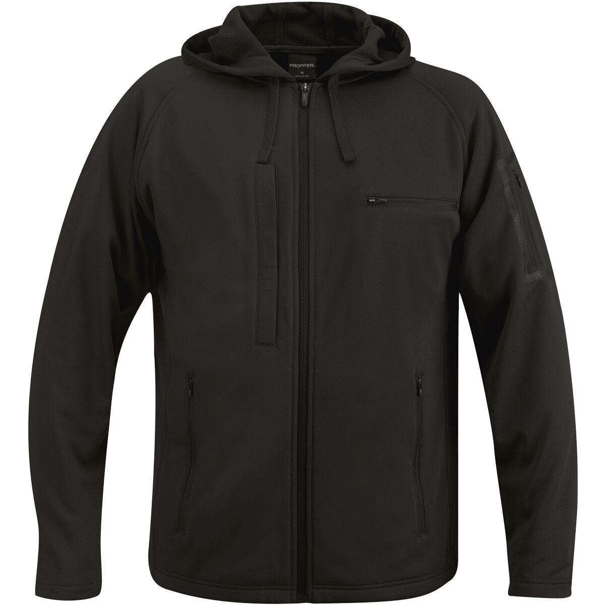 Proper 314 Hoog Sweatshirt mannens CCW PoliBinden Beveiliging Uniform Duty Jumper Zwart