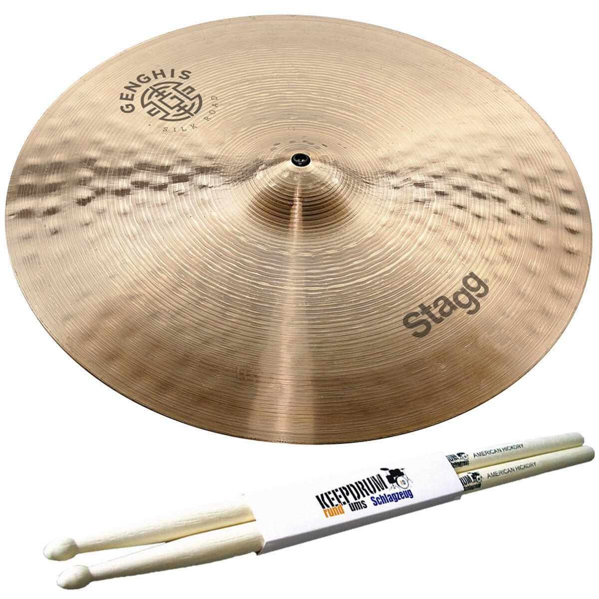 Stagg Gengis Medium Crash vasca 18  + drumsticks