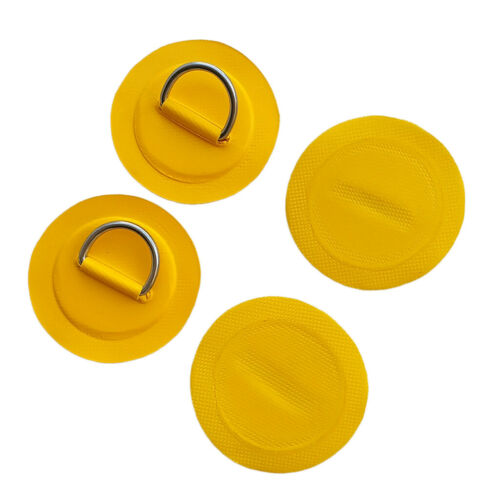 4Pcs Inflatable Boat Kayak SUP Stainless Steel D-Ring Patch Pad Replacement Kit