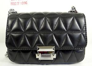 d3c85c58710d Image is loading Michael-Michael-Kors-Sloan-Quilted-Leather-Small-Chain-