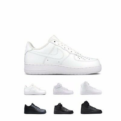 Nike Air Force 1 Mid (GS) BlackBlack Big Kids Basketball Shoes 314195 004 Size 4