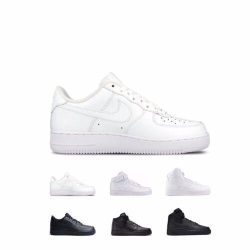 Nike Air Force 1 /'07 Low Mid High White//White /& Black//Black Shoes Men/'s GS Kids