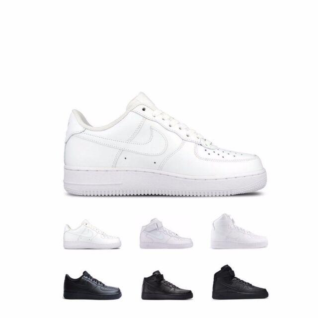 Nike Air Force 1 '07 Low Mid High WhiteWhite & BlackBlack Shoes Men's GS Kids