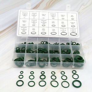 270pcs 18 Size AC A//C System O-Ring Gasket Seals Washer Rapid Seal Repair Kit