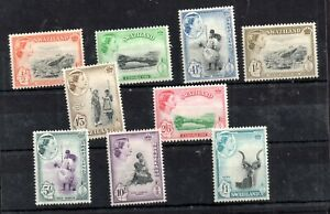 Swaziland-QEII-1956-Animals-mint-LHM-set-55-66-WS14203