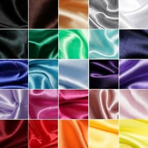 Silky-Satin-Fabric-Plain-Dress-Material-150cm-Wide-Wedding-Prom-Cosplay-Evening