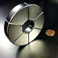 Huge Neodymium N52 Ring Magnet Strong Rare Earth 3 Healing Star Of David Motor