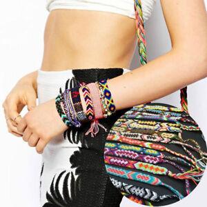 6pc Unique Multicolor Friendship Bracelet Handmade Woven Rope String Hippy Boho