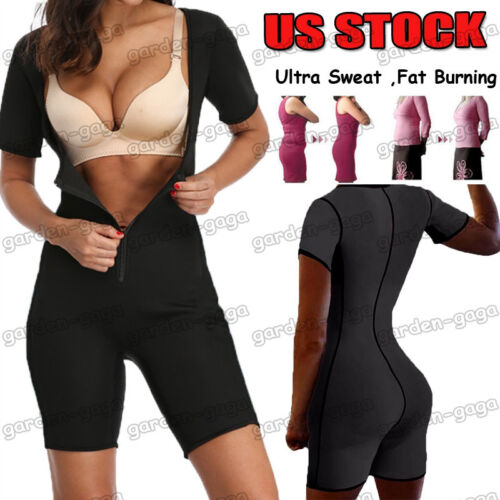 Full Body Shaper for Women Firm Control Plus Size Sauna Suits for Weight Loss US