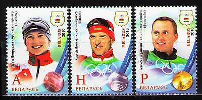 Belarus 2010 Sc731-33 Mi815-17 3v Mnh Medal Winners At Xxi Olympic Winter Numerous In Variety Stamps