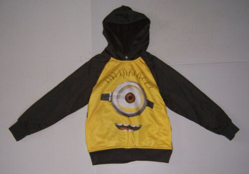 DISPICABLE ME MINION GRAY /& YELLOW BOY/'S  HOODIE SWEATSHIRT VARIOUS SIZES NWT