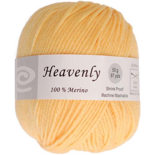 Lemon Yellow Elegant Heavenly Merino Wool W//Soft Smooth Texture Yarn