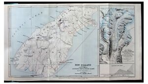 1884-New-Zealand-SOUTHERN-ALPS-1st-Ascent-MOUNT-COOK-Aoraki-COLOR-MAP-2