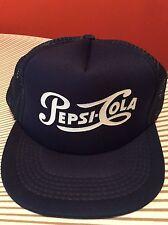 Vintage Pepsi Cola Mesh Trucker Hat Adjustable Cap SnapBack Retro UNWORN NWOT