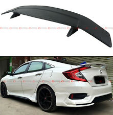 FOR 2016-17 HONDA CIVIC X 10TH GEN R STYLE REAR TRUNK SPOILER WING W/ LED BRAKE