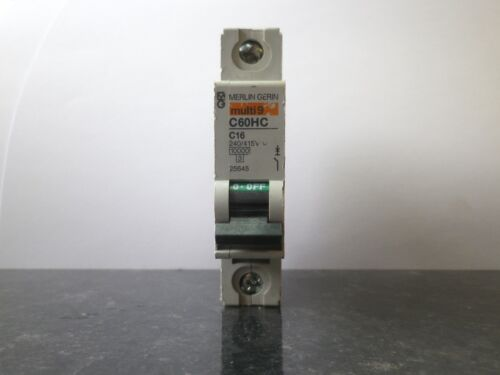 Merlin Gerin Schneider Multi 9 C60HC C10 C16 C32 C50 MCB Breaker Single 1 Pole