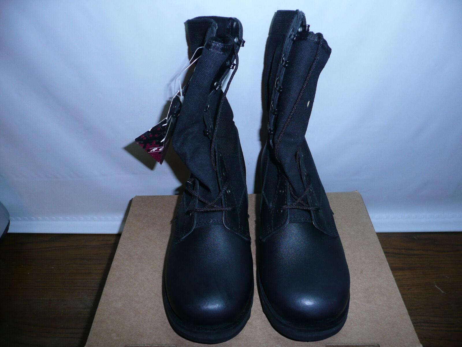 Rothco Men's Black Ripple Sole Jungle Boots, 4M US