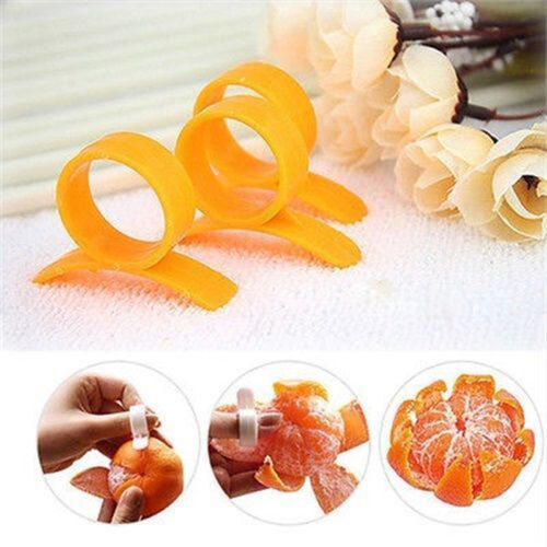 5pcs White Fruit Lemon Orange Opener Peeler Slicer Cutter Kitchen Tools TO