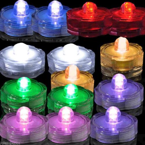 1x LED Submersible Waterproof Wed Xmas Decor Vase Tea Light Candles Birthday LOT
