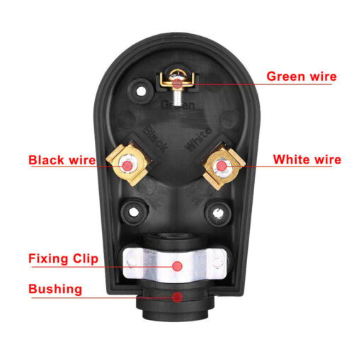 30 AMP Male End Plug Receptacle TT-30P Electrical Adapter w// Handle fit RV IN US