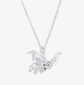 DUMBO-DISNEY-DUMBO-SILVER-PLATED-CHARM-PENDANT-NECKLACE-FLYING-ELEPHANT-NEW