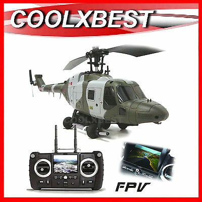 NEW HUBSAN WESTLAND LYNX FPV REAL TIME VIDEO CAMERA w RECORD RC HELICOPTER RTF