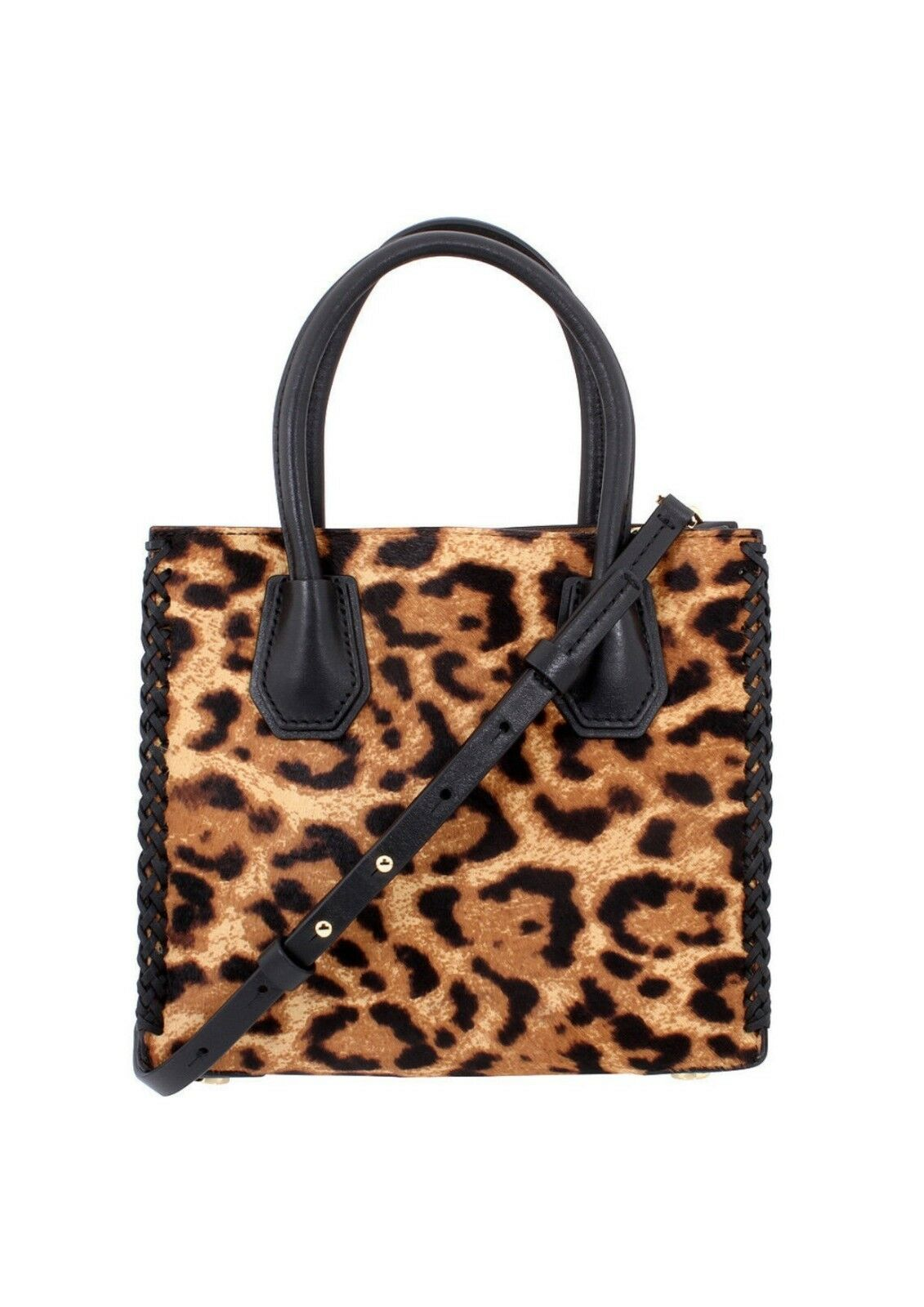 00e13b6a2396 Michael Kors Mercer Leopard Calf Hair Crossbody Butterscotch With Dustbag  for sale online
