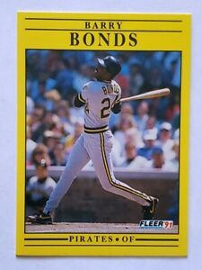 Barry-Bonds-Fleer-1991-MLB-Trading-Card-33-Pittsburgh-Pirates