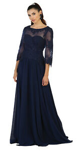 Details about FORMAL EVENING SPECIAL OCCASION CLASSY MOTHER of THE GROOM  BRIDE PLUS SIZE DRESS