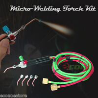 Handy Mirco Pinpoint Welding Soldering Hobby Weld Torch Kit W/ 5 Tips & Hose