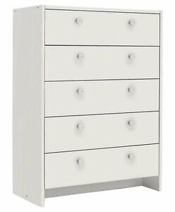 Argos Home Seville 5 Drawer MDF Chest Plastic Handles - White