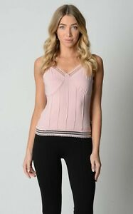 Warner-Bros-Ladies-Singlet-Top-with-Lace-sizes-Small-Medium-Large-XL-Colour-Pink