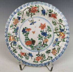 A-Chinese-Antique-Famille-Verte-Porcelain-Plate-Kangxi-Period-18th-C