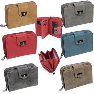 Damen-Geldboerse-Portemonnaie-Geldbeutel-mit-vielen-Kreditkartenfaecher-6-Farben