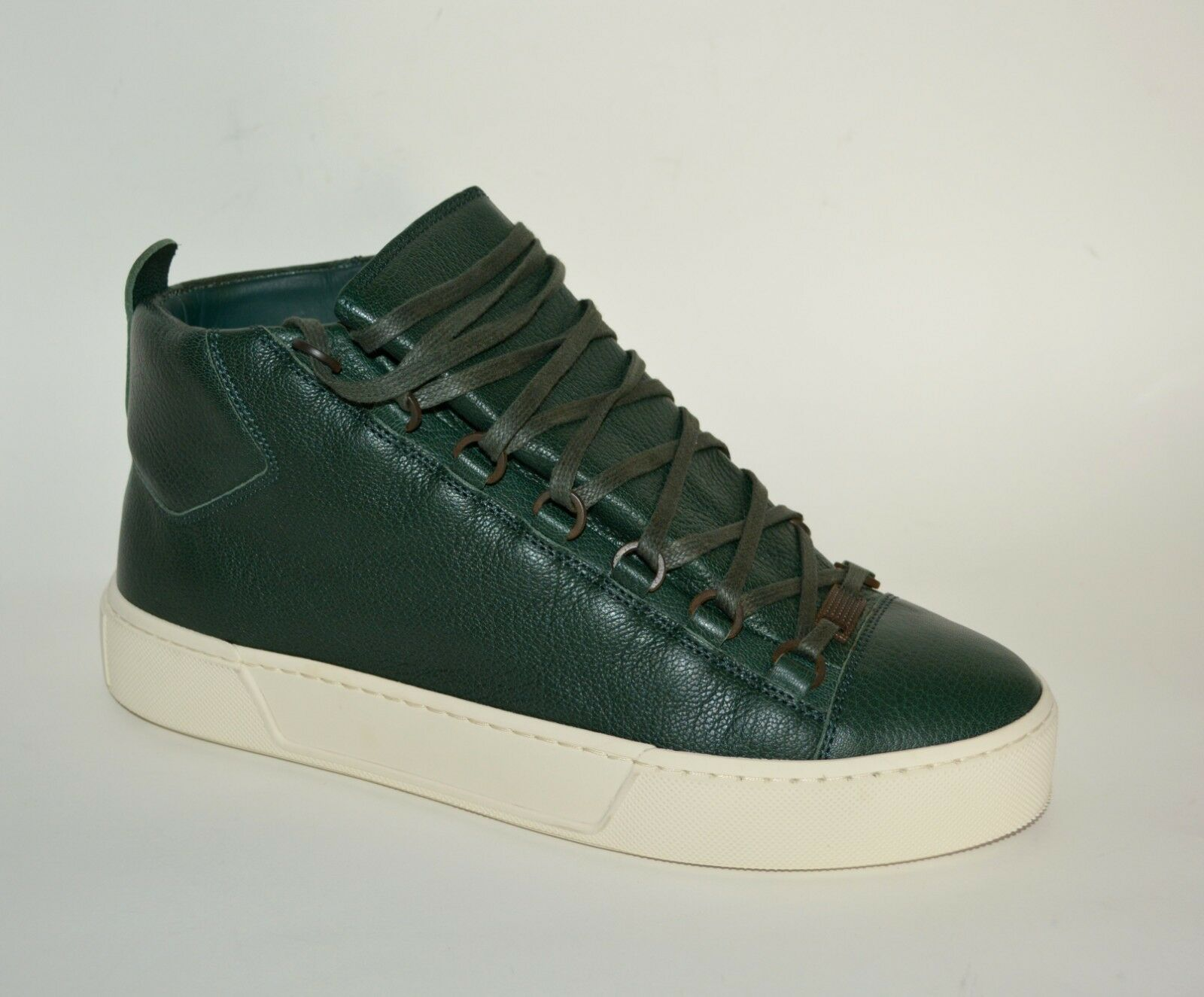 NEW BALENCIAGA HITOP LEATHER SNEAKERS US 9 MENS