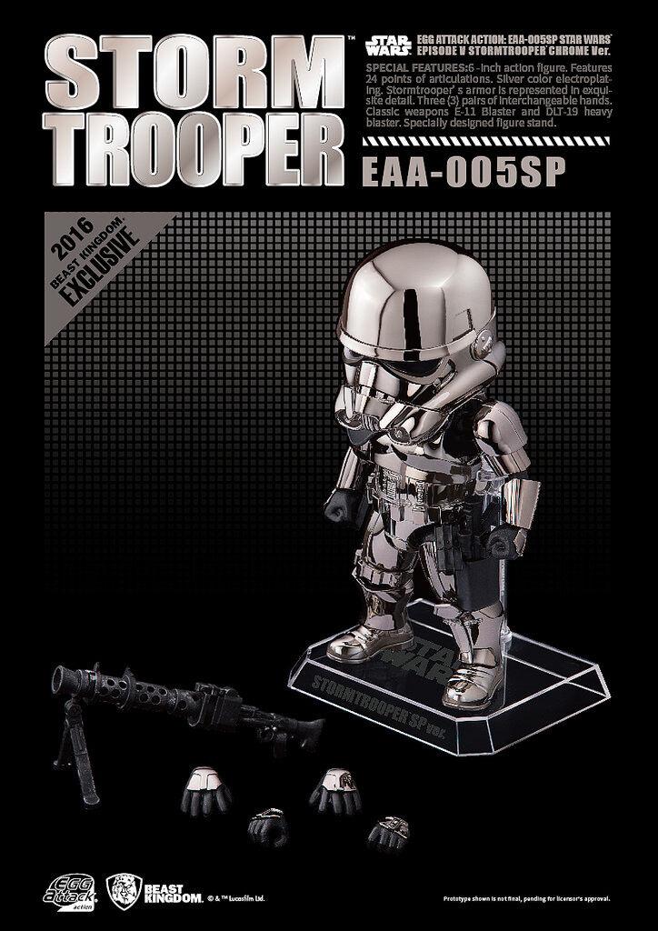 bambini LOGIC EGG ATTACK estrella guerras eaa005sp Storm Trooper 6 Chrome argento cifra
