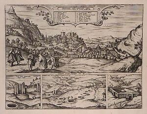 Antique map, Amoenissimus castri Granatensis, vulgo Alhambre dicti