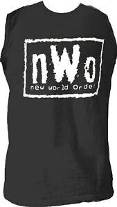 Adult-Mens-nWo-New-World-Order-Logo-Wrestling-Black-Sleeveless-T-shirt-Tee