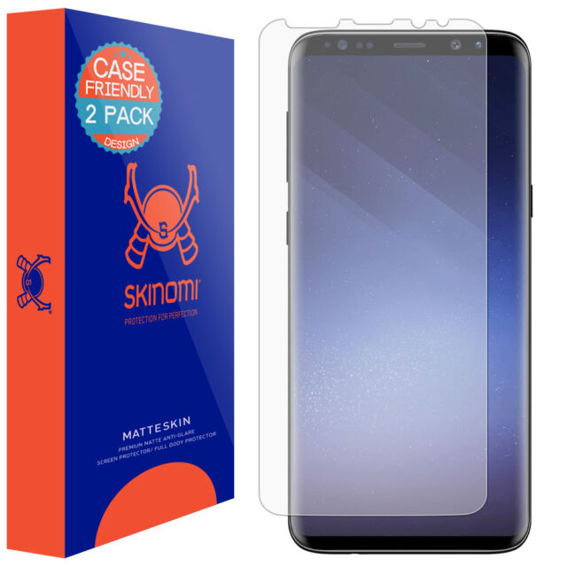 promo code 9662f 1f46a Skinomi Anti-glare Matte Screen Protector for Galaxy S9 Plus Case Friendly  2pack
