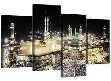 Tela islamica FOTO DELLA MECCA Kaaba a Hajj per camera da letto-Set di 4