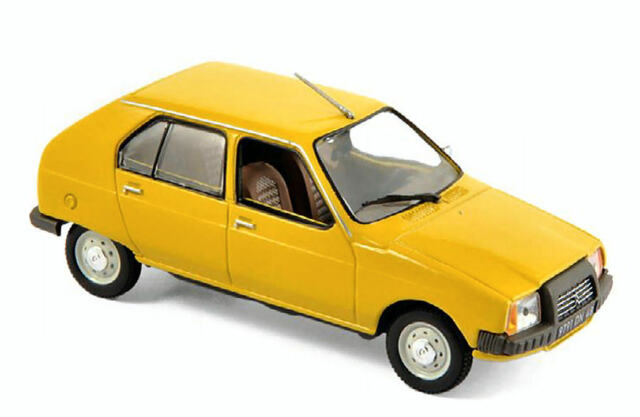 Citroen Visa Club 1979 Mimosa Yellow 1:43 Model 150940 NOREV