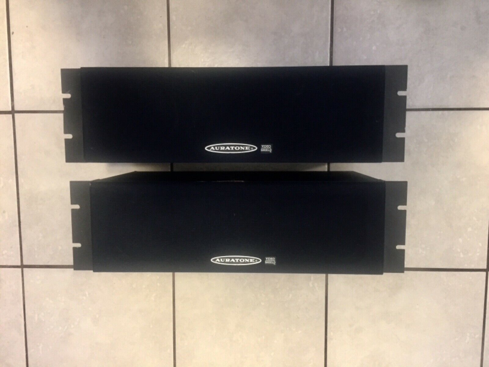 Auratone Rack Mount Speaker Pair Vintage & Working All Speaker Need Surrounds