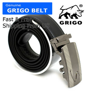 Luxury-Men-039-s-Genuine-Leather-Automatic-Buckle-Belts-Waist-Strap-Belt-Waistband