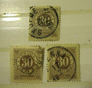 lot 3 Sweden stamp #25 used F - VF