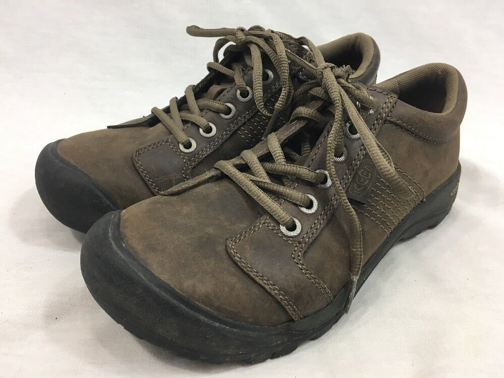 Keen Comfort schuhe damen 7 braun Leather Lace Suede Lace Leather Up Walking Turnschuhe 4baeee